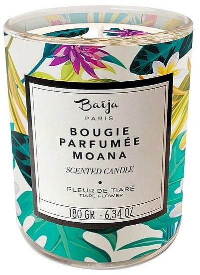 Bougie parfumée à la cire végétale, Fleur de Tiaré - Baija Moana Scented Candle