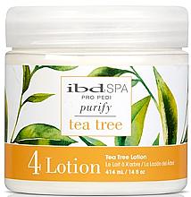 Parfums et Produits cosmétiques Lotion de massage à l'arbre à thé pour les pieds - IBD Tea Tree Purify Pedi Spa Massage Lotion