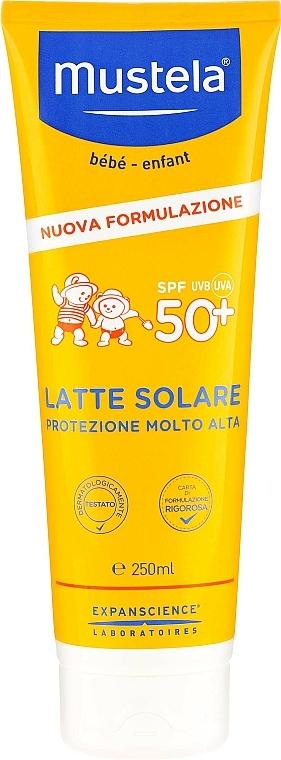 Lait solaire à l'huile d'avocat pour corps - Mustela Bebe Very High Protection Sun Milk SPF50+ — Photo N1