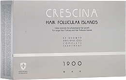 Parfums et Produits cosmétiques Traitement anti-chute, 20 ampoules - Crescina Hair Follicular Island Re-Growth+Anti-Hair Loss 1900 Man