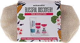 Parfums et Produits cosmétiques Schmidt's Blissful Discovery - Set (dentifrice/100ml + deo/58ml + savon/142g + trousse de toilette)