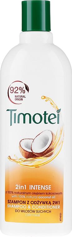 Shampooing et après-shampooing à l'huile de coco - Timotei 2 in 1 Intense Shampo & Conditioner