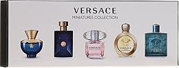 Parfums et Produits cosmétiques Versace Miniatures Collections - Coffret (eau de toilette/4x5ml + eau de parfum/1x5ml)