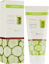 Parfums et Produits cosmétiques Mousse nettoyante à l'extrait de concombre pour visage - FarmStay Pure Cleansing Foam Cucumber