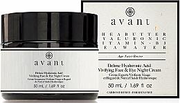 Parfums et Produits cosmétiques Crème de nuit à l'acide hyaluronique pour visage et yeux - Avant Skincare Deluxe Hyaluronic Acid Night Cream