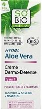 Parfums et Produits cosmétiques Crème dermo-défense à l'aloe vera et rose bio pour visage - So'Bio Etic Hydra Aloe Vera Creme