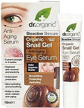 Parfums et Produits cosmétiques Sérum en gel anti-âge à la bave d'escargot pour contour des yeux - Dr. Organic Bioactive Skincare Anti-Aging Snail Gel Eye Serum