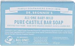 Parfums et Produits cosmétiques Savon à l'huile d'olive et jojoba pour enfants - Dr. Bronner's Pure Castile Bar Soap Baby-Mild