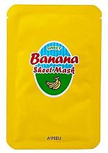 Parfums et Produits cosmétiques Masque tissu nourrissant à l'extrait de banane et de miel pour visage - A'Pieu Sweet Banana Sheet Mask
