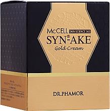 Parfums et Produits cosmétiques Crème à l'or pour visage - Dr. Pharmor McCell Skin Science 365 SYN-AKE Gold Cream