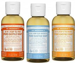 Parfums et Produits cosmétiques Dr. Bronner's 18-in-1 Pure Castile Soap - Lot (savon liquide/3x60ml)