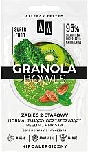 Parfums et Produits cosmétiques Masque peeling à l'huile d'amande et chou frisé pour visage - AA Granola Bowls