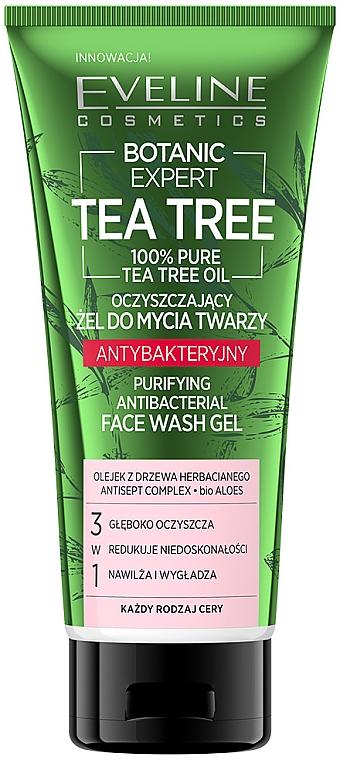 Gel nettoyant à l'huile d'arbre à thé 100% pour visage - Eveline Cosmetics Botanic Expert Tea Tree Face Wash Gel