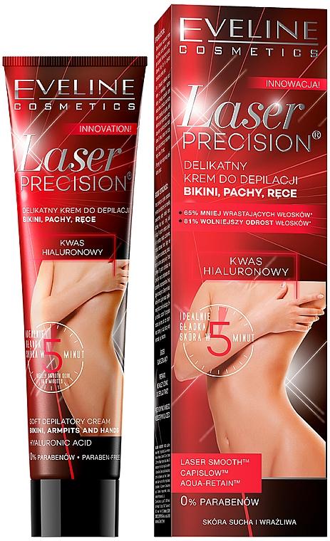 Crème dépilatoire pour mains, zone bikini et aisselles - Eveline Cosmetics Laser Precision