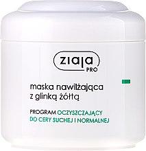 Parfums et Produits cosmétiques Masque à l'argile jaune pour visage - Ziaja Pro Moisturizing Mask with Yellow Clay