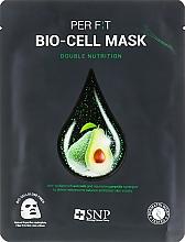 Parfums et Produits cosmétiques Masque bio-cellulose à l'extrait d'avocat pour visage - SNP Double Nutrition Bio-Cell Mask