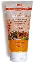 Parfums et Produits cosmétiques Gel avec particules de riz, aloe et papaye pour visage - Orientana Face Gel Cleanser