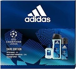 Parfums et Produits cosmétiques Adidas UEFA Dare Edition - Set (gel douche/250ml + déodorant/150ml + après-rasage/50ml)