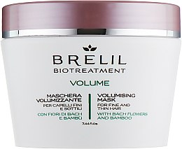 Parfums et Produits cosmétiques Masque pour volume des cheveux fins - Brelil Bio Treatment Volume Hair Mask