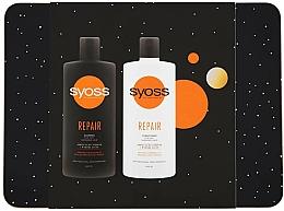 Parfums et Produits cosmétiques Syoss Repair Metal Box - Set (shampooing/440ml + après-shampooing/440ml)
