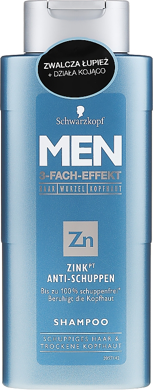 Shampooing anti-pelliculaire - Schwarzkopf Men ZinkPT Anti-Schuppen Shampoo