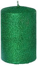 Parfums et Produits cosmétiques Bougie décorative, vert, 7x10 cm - Artman Glamour