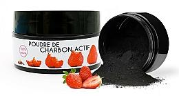 Parfums et Produits cosmétiques Poudre blanchissante de charbon actif pour dents, Fraise - Keeth Strawberry-flavoured Activated Charcoal Bleaching Powder