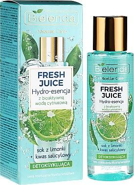 Essence au jus de citron vert pour visage - Bielenda Fresh Juice Detoxifying Face Hydro Essence Lime