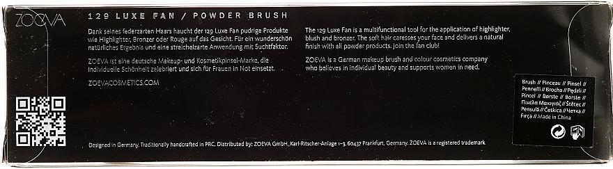 Pinceau enlumineur, 129 - Zoeva Luxe Fan Brush — Photo N3