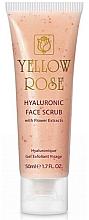 Parfums et Produits cosmétiques Gel exfoliant à l'extrait de fleurs pour visage - Yellow Rose Hyaluronic Face Scrub