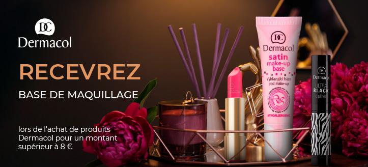 Lors de l'achat de produits Dermacol pour un montant supérieur à 8 €, vous recevez une base de maquillage en cadeau