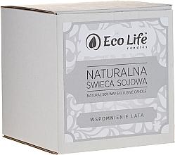 Parfums et Produits cosmétiques Bougie parfumée à la cire de soja, Mémoires d'été - Eco Life Candles