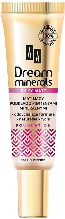 Fond de teint mat avec pigments minéraux - AA Dream Minerals Silky Matt Foundation