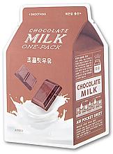 Parfums et Produits cosmétiques Masque tissu lissant au lait au chocolat pour visage - A'pieu Chocolate Milk One-Pack Smoothing