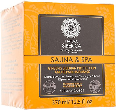 Masque protecteur au ginseng de Sibérie pour cheveux - Natura Siberica Sauna & Spa — Photo N1