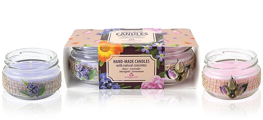 Set de bougies d'aromathérapie - Bulgarian Rose Candle Set