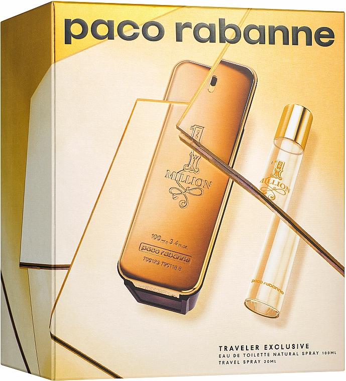 Paco Rabanne 1 Million - Coffret Eau de Toilette (eau de toilette/100ml + eau de toilette/20ml)