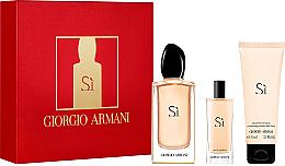 Parfums et Produits cosmétiques Giorgio Armani Si - Coffret (eau de parfum/100ml + eau de parfum mini/15ml + lait pour corps/75ml)