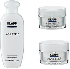 Parfums et Produits cosmétiques Coffret cadeau - Klapp ASA Peel Home Cure Pack (gel/200ml + f/cr/30ml + f/cr/30ml)