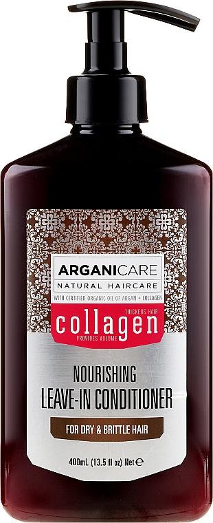 Après-shampooing à l'huile d'argan bio et collagène sans rinçage - Arganicare Collagen Nourishing Leave-In Conditioner — Photo N1
