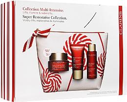 Parfums et Produits cosmétiques Coffret cadeau - Clarins Super Restorative Christmas Set (cr/50ml + cr/15ml + essence/50ml + bag)