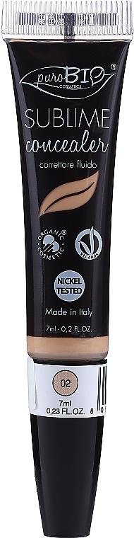 Correcteur bio à l'huile d'argan pour le visage - PuroBio Cosmetics Sublime Fluid Corrector
