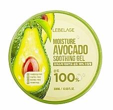 Parfums et Produits cosmétiques Gel à l'extrait d'avocat pour visage - Lebelage Moisture Avocado 100% Soothing Gel