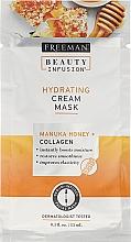 Parfums et Produits cosmétiques Masque crème au miel de Manuka et collagène pour visage - Freeman Beauty Infusion Hydrating Cream Mask Manuka Honey + Collagen (mini)