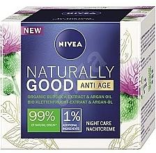 Parfums et Produits cosmétiques Crème de nuit à l'huile d'argan - Nivea Naturally Good Anti Age Night Cream Organic Burdock Extract