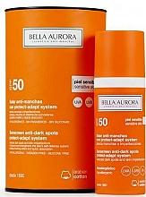 Parfums et Produits cosmétiques Crème solaire anti-taches pigmentaires pour visage SPF 50+ - Bella Aurora Solar Anti-Stain Sensitive Skin SPF50+