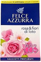 Parfums et Produits cosmétiques Sachet aromatique, Rose et Fleur de lotus - Felce Azzurra Sachets Rose and Flowers Of Lotus