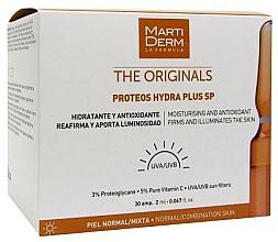 Parfums et Produits cosmétiques Ampoules à la vitamine C pour visage, cou et décolleté - MartiDerm The Originals Proteos Hydra Plus SP