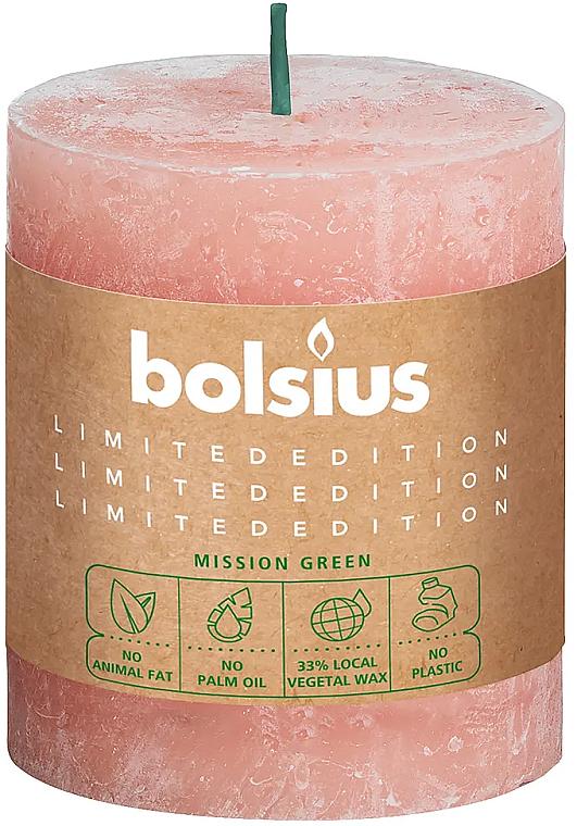 Bougie cylindrique, rose pâle, 80/68 mm - Bolsius Candle — Photo N1
