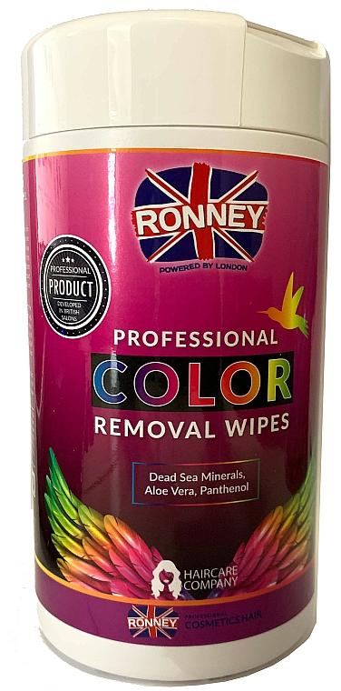 Serviettes détachantes de coloration pour la peau - Ronney Profesional Color Removal Wipes